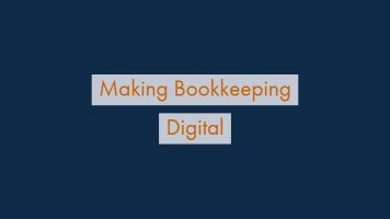 Bookkeeping without a bookkeeper: let computers do the heavy lifting