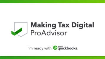 Making Tax Digital Quickbooks Advisor South West London